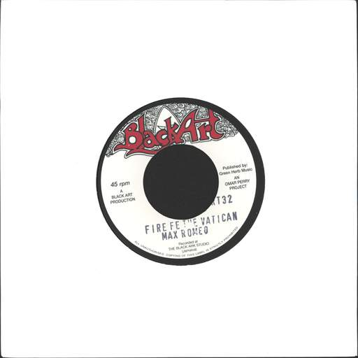 MAX ROMEO - Fire Fe The Vatican / Leggo - 7inch (SP)