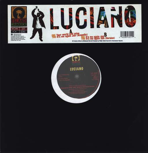 LUCIANO - Your World And Mine / It's Me Again Jah - 12 inch 45 rpm