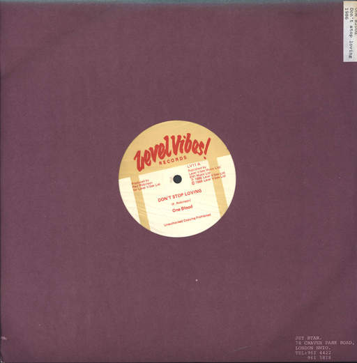 ONE BLOOD - Don't Stop Lovin' / When I'm With You - 12 inch 45 rpm