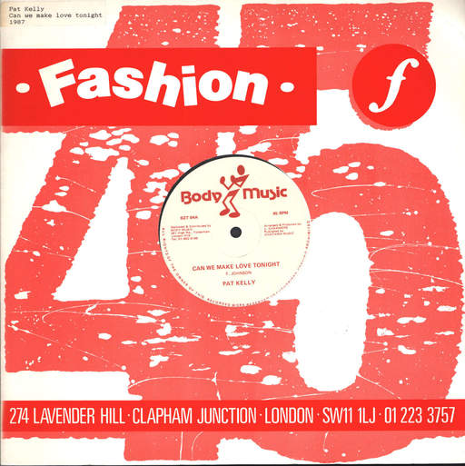 PAT KELLY - Can We Make Love Tonight - 12 inch 45 rpm