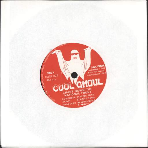 BLAZING SONS - Chant Down The National Front - 7inch (SP)