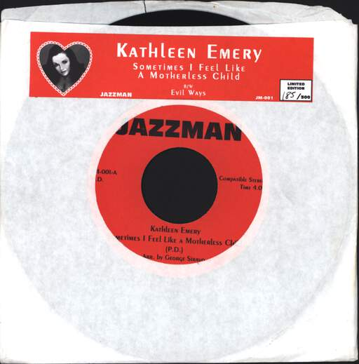 KATHLEEN EMERY - Sometimes I Feel Like A Motherless Child / Evil Ways - 7inch (SP)