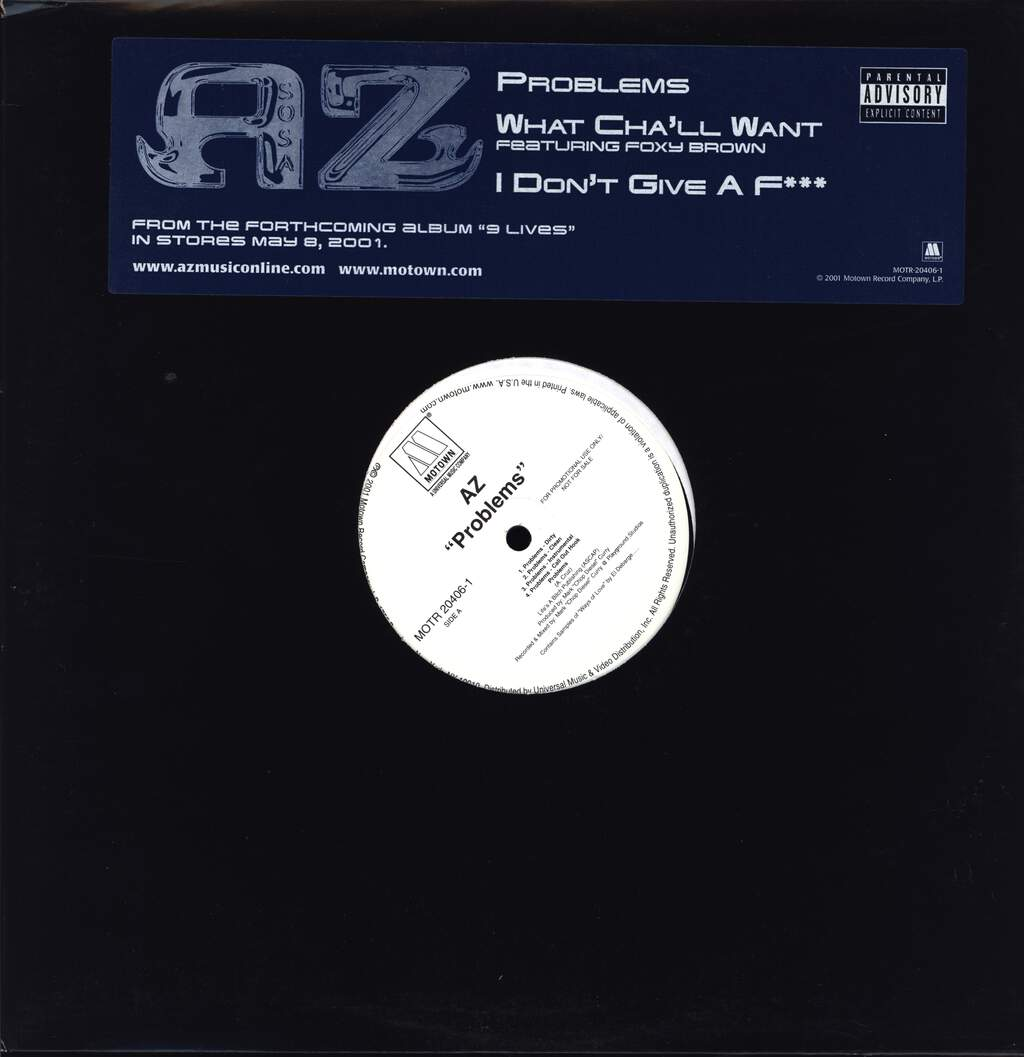 "Az: Problems/What Cha'll Want/I Don't Give A F***, 12"" Maxi Single (Vinyl)"