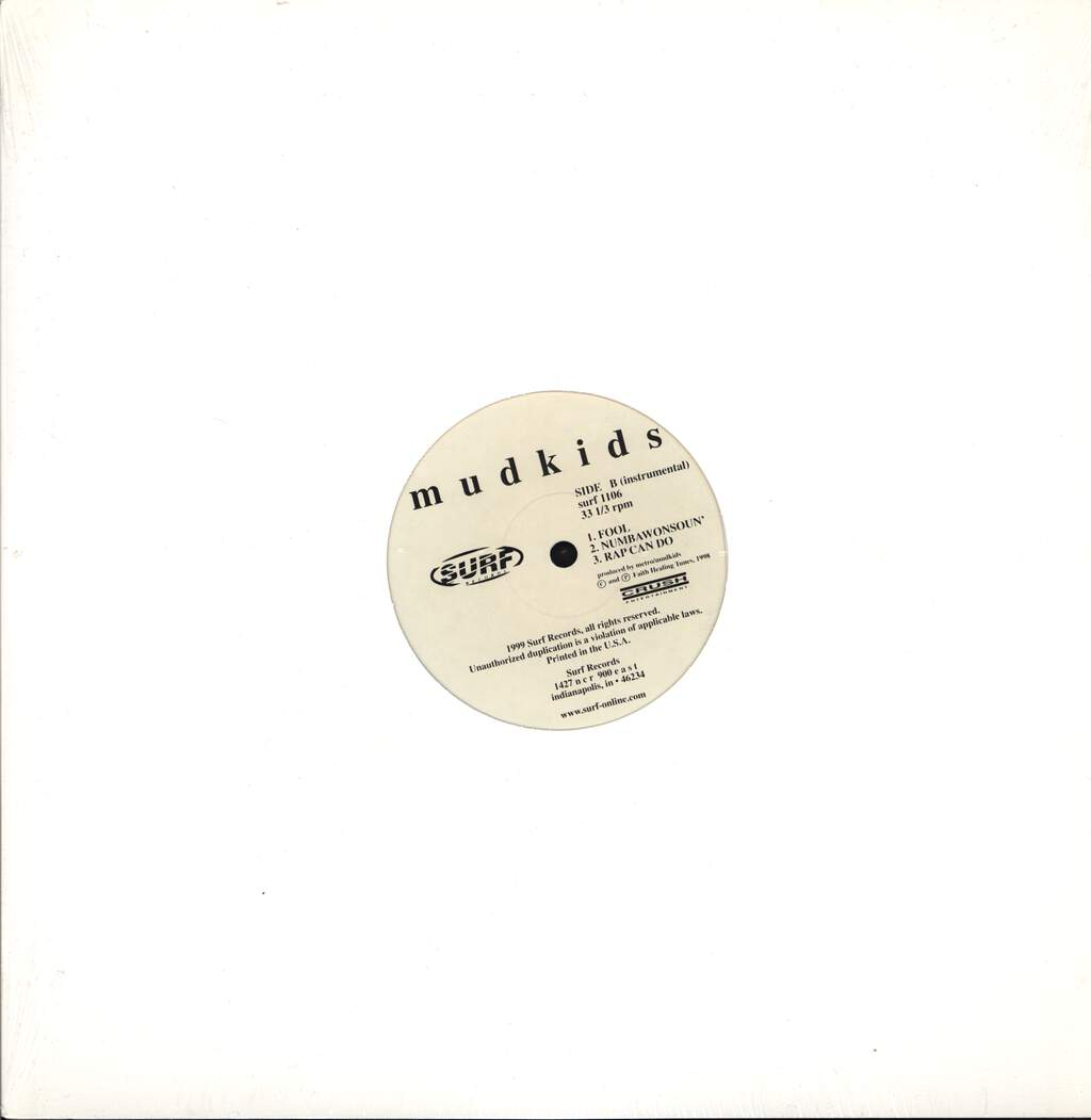 "Mudkids: Fool / Numbawonsoun' / Rap Can Do, 12"" Maxi Single (Vinyl)"