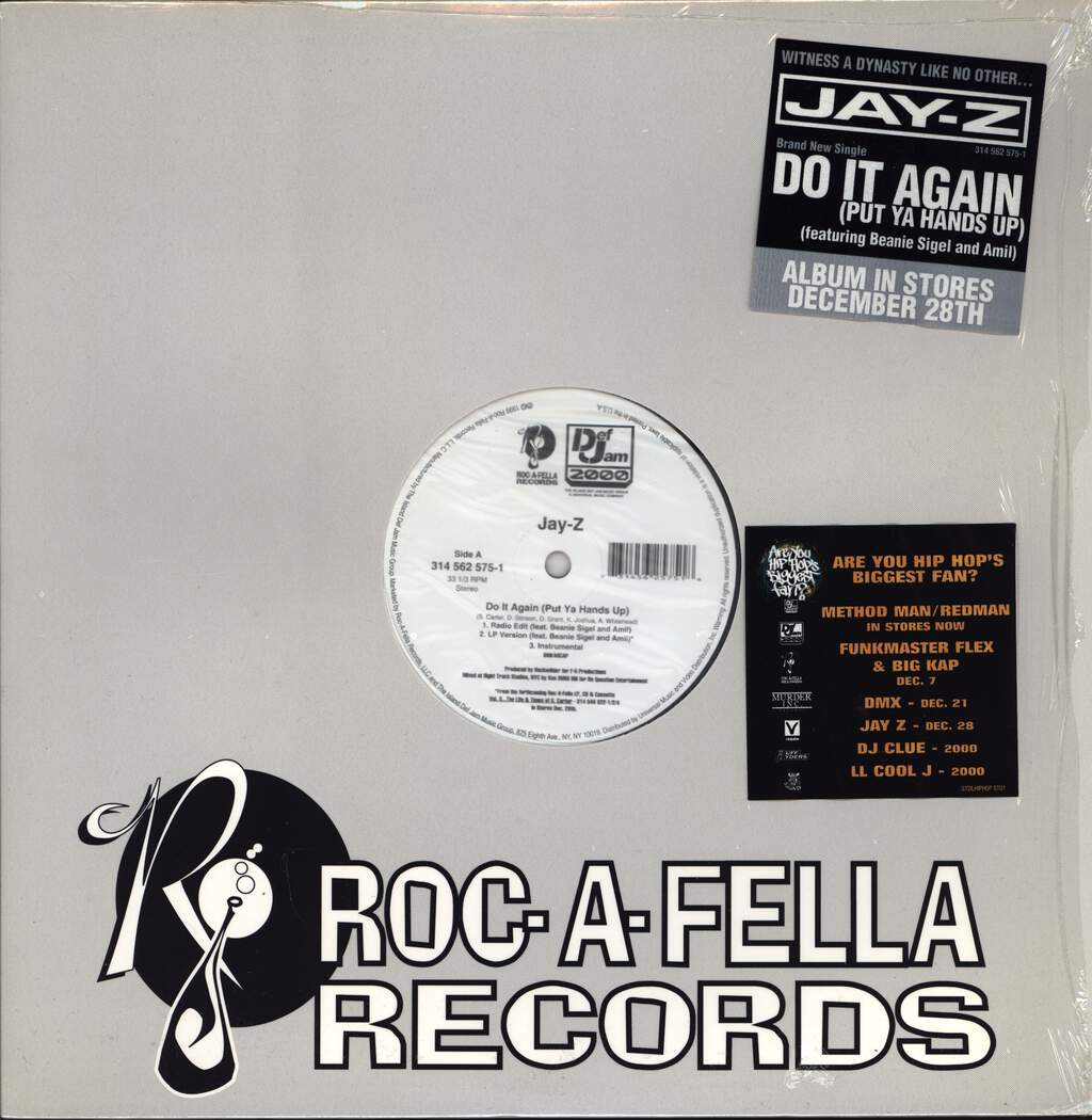"Jay-Z: Do It Again (Put Ya Hands Up), 12"" Maxi Single (Vinyl)"