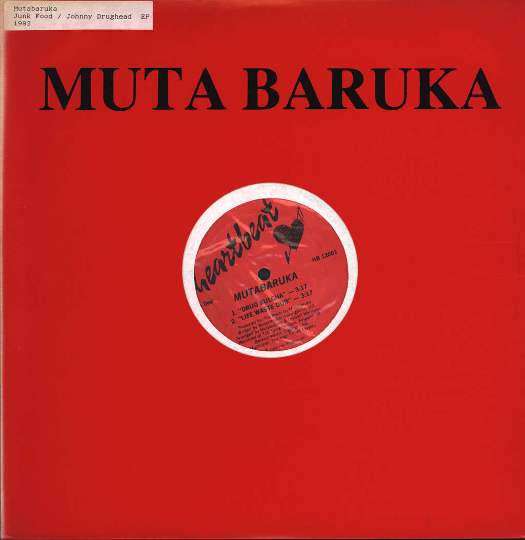 "Mutabaruka: Drug Kulcha / Slip, 12"" Maxi Single (Vinyl)"