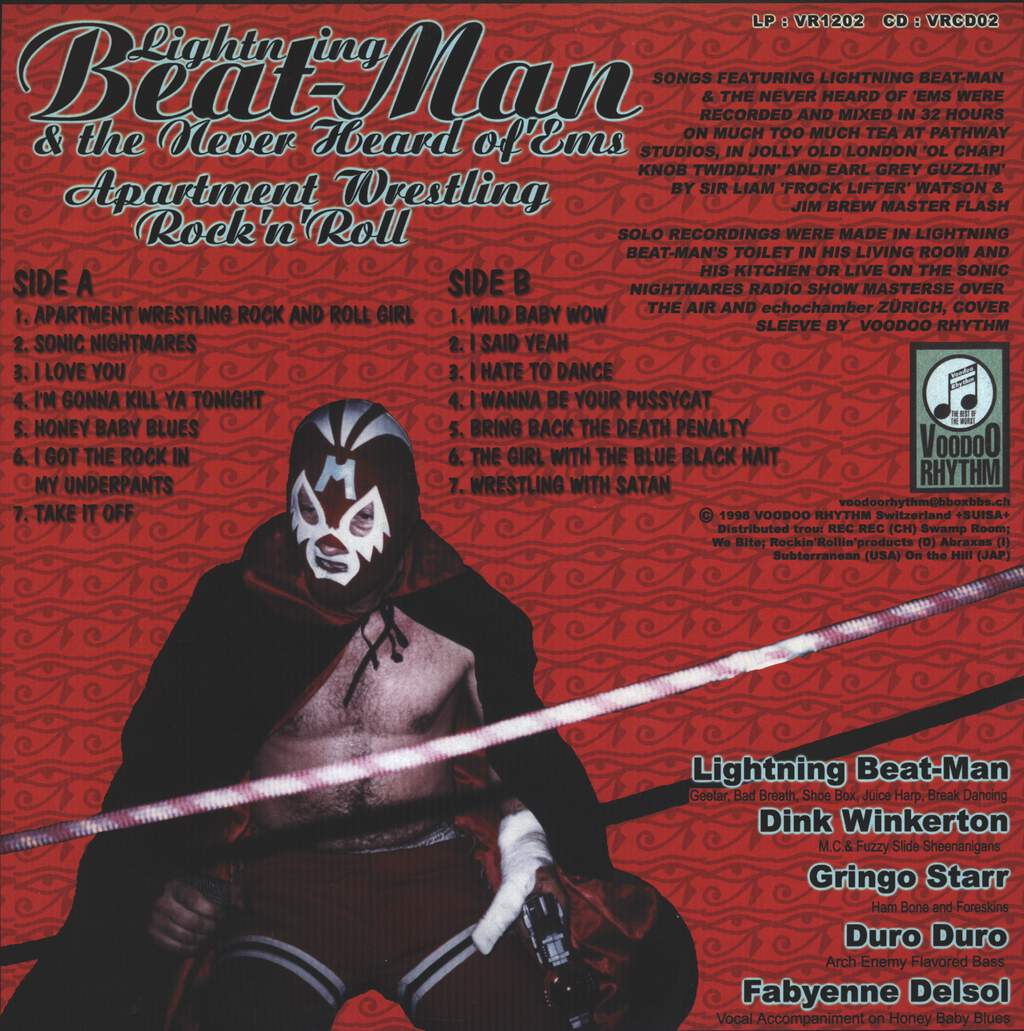 Lightning Beat-Man And The Never Heard Of 'Ems: Apartment Wrestling Rock And Roll, LP (Vinyl)