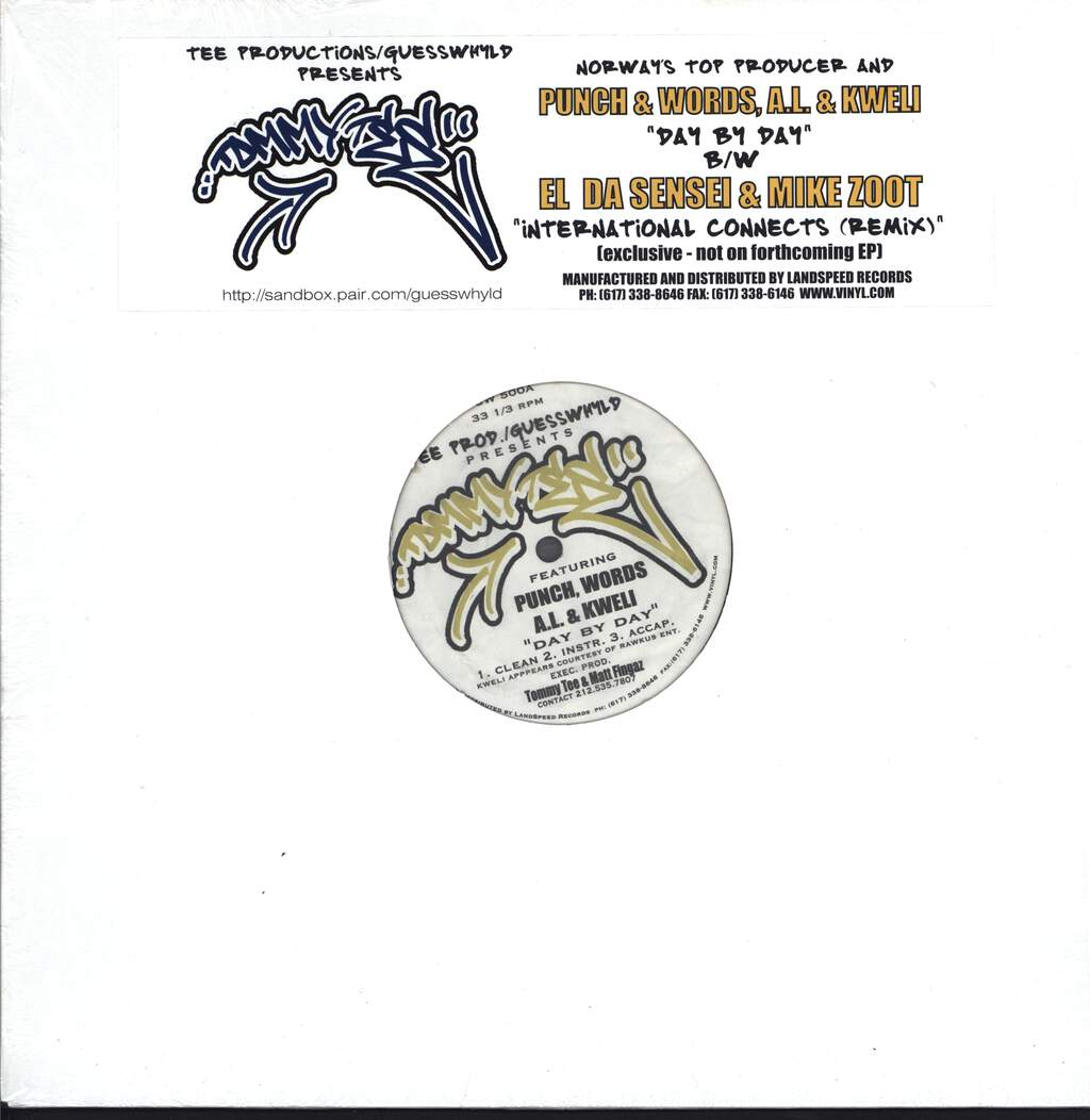 "Tommy Tee: Day By Day / International Connects (Remix), 12"" Maxi Single (Vinyl)"