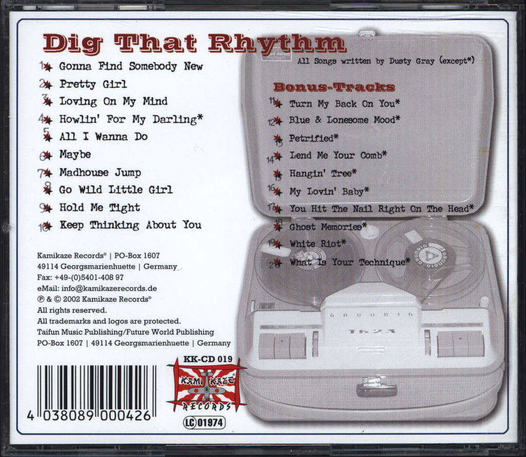 Dusty Gray: Dig That Rhythm, CD