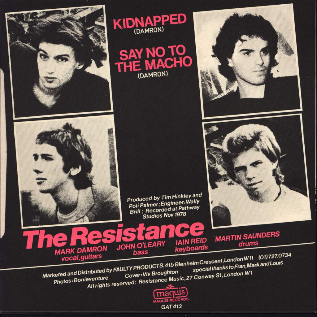 "The Resistance: Kidnapped, 7"" Single (Vinyl)"