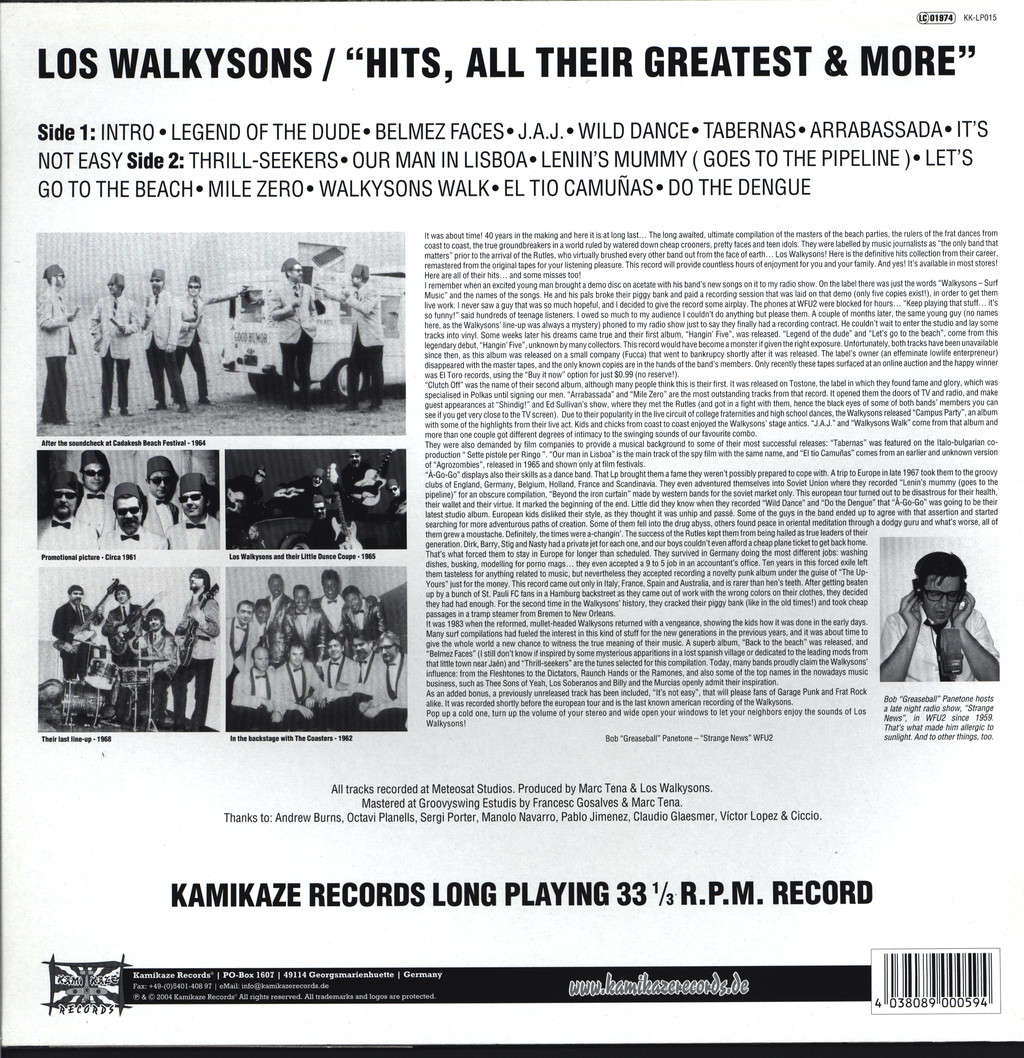 Los Walkysons: Hits, All Their Greatest & More, LP (Vinyl)