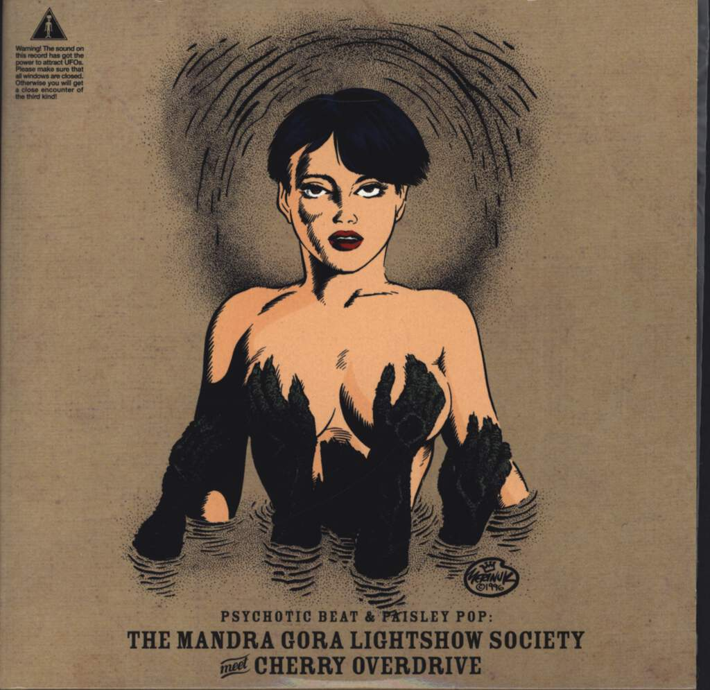 "Mandra Gora Lightshow Society: Psychotic Beat & Paisley Pop: The Mandra Gora Lightshow Society Meet Cherry Overdrive, 7"" Single (Vinyl)"