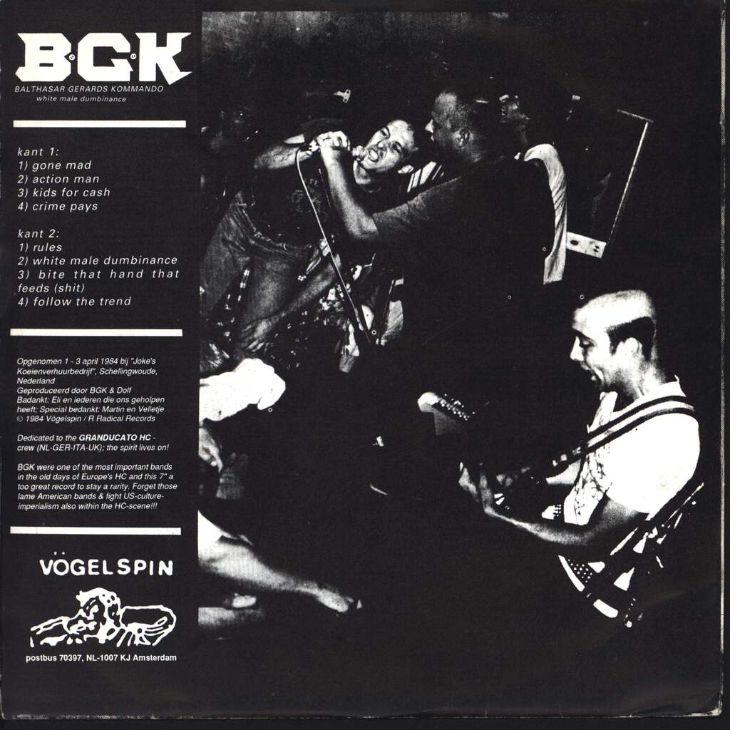 "B.G.K.: White Male Dumbinance, 7"" Single (Vinyl)"