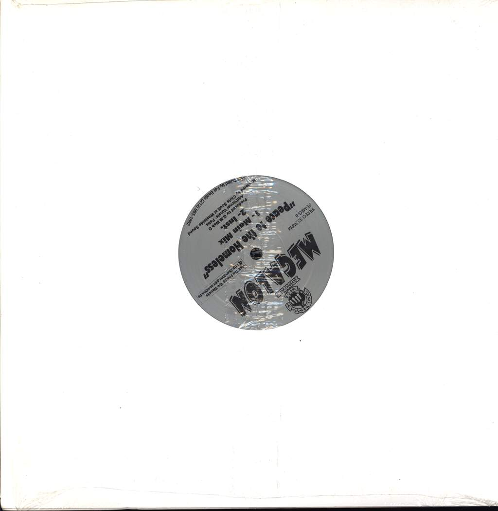 "Megalon: One In A Million / Peace To The Homeless, 12"" Maxi Single (Vinyl)"