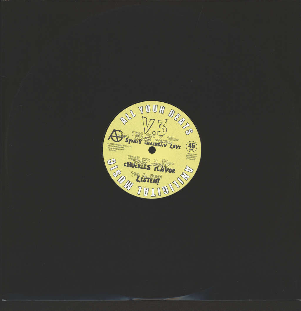 "Various: All Your Beats V.3, 12"" Maxi Single (Vinyl)"