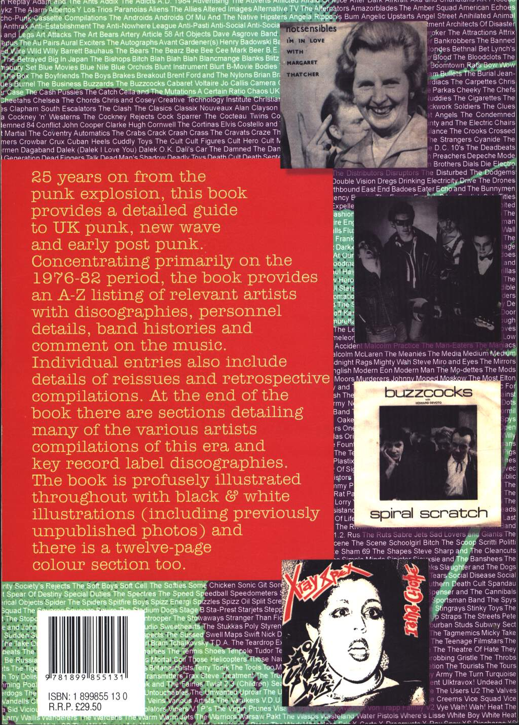 Joynson, Vernon: Up Yours! Guide To UK Punk, New Wave and early Post Punk, Book