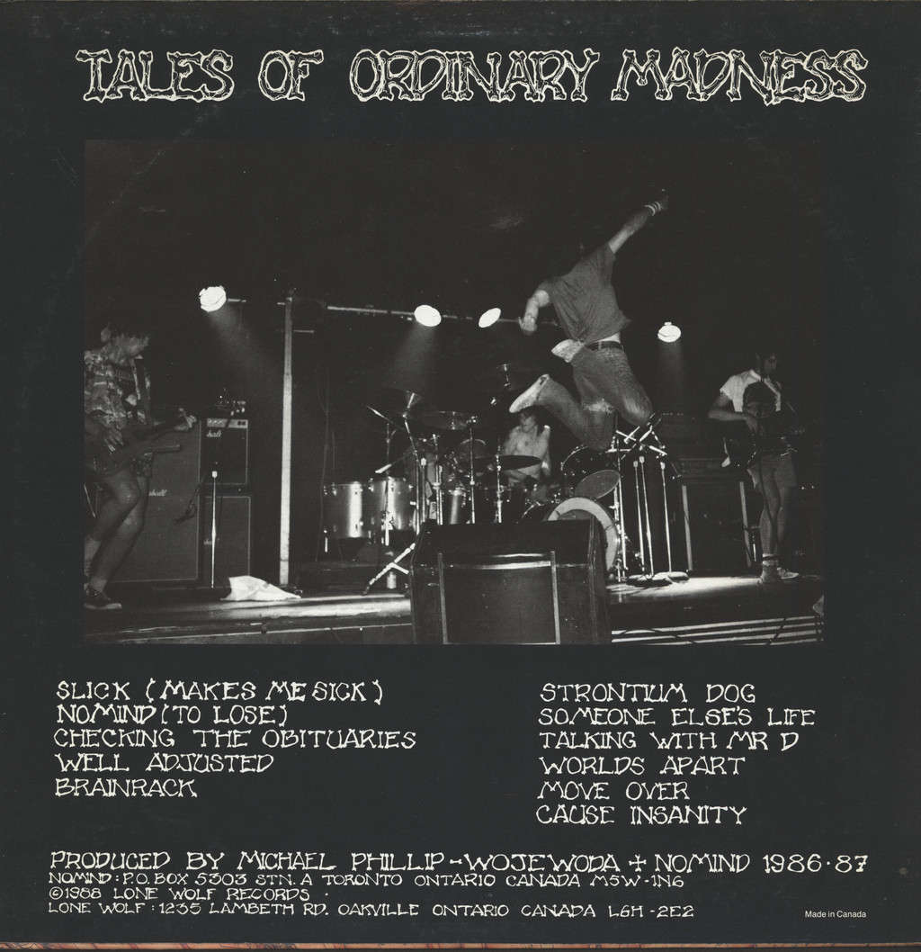 Nomind: Tales Of Ordinary Madness, LP (Vinyl)