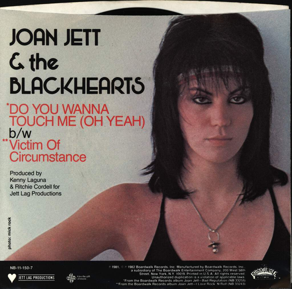 "Joan Jett & The Blackhearts: Do You Wanna Touch Me (Oh Yeah), 7"" Single (Vinyl)"