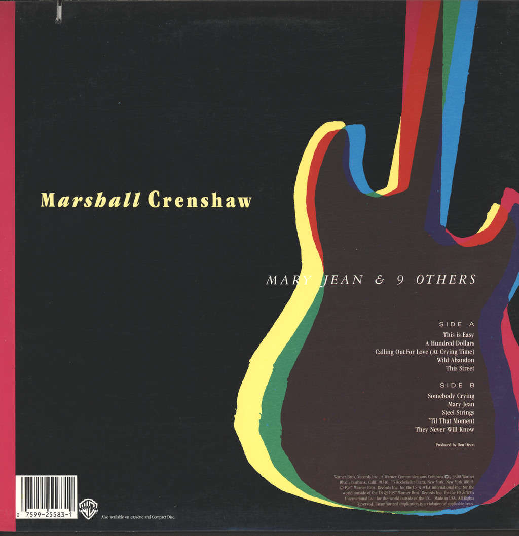 Crenshaw, Marshall: Mary Jean & 9 Others, LP (Vinyl)