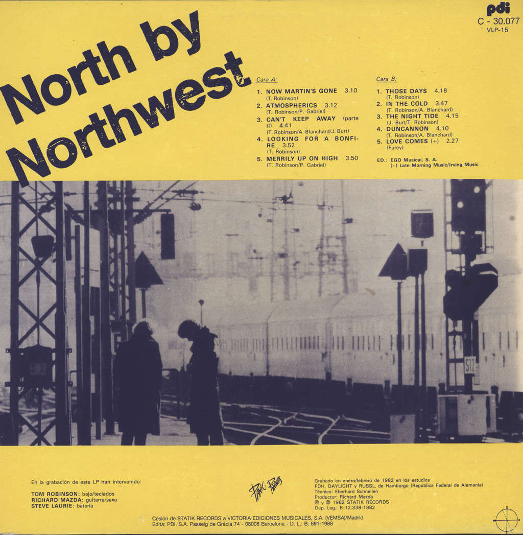 Tom Robinson: North By Northwest, LP (Vinyl)