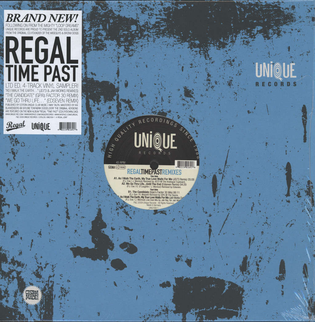 "Regal: Time Past Remixes, 12"" Maxi Single (Vinyl)"