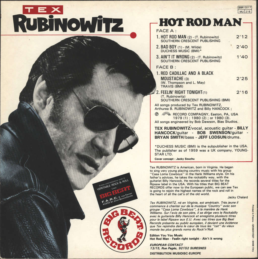 "Tex Rubinowitz: Hot Rod Man, 10"" Vinyl EP"