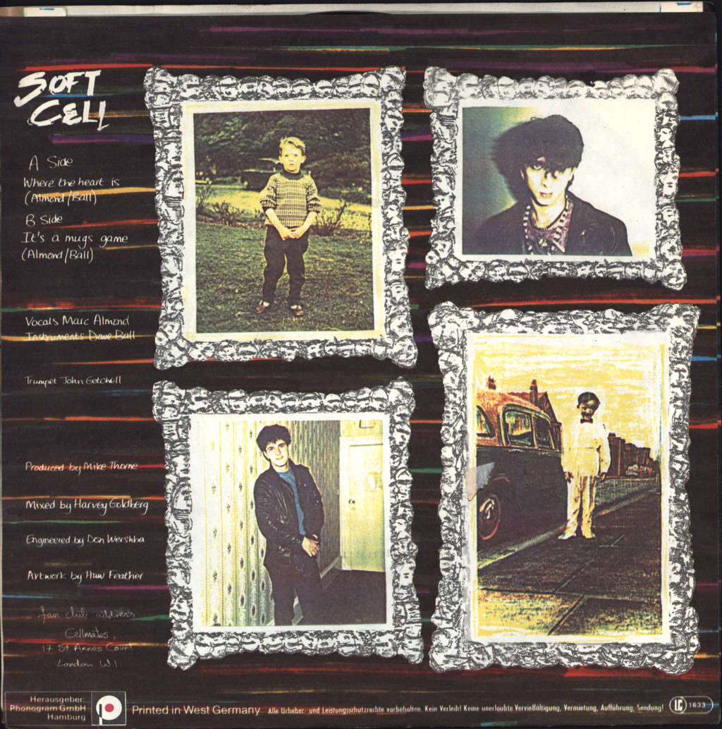 "Soft Cell: Where The Heart Is, 7"" Single (Vinyl)"