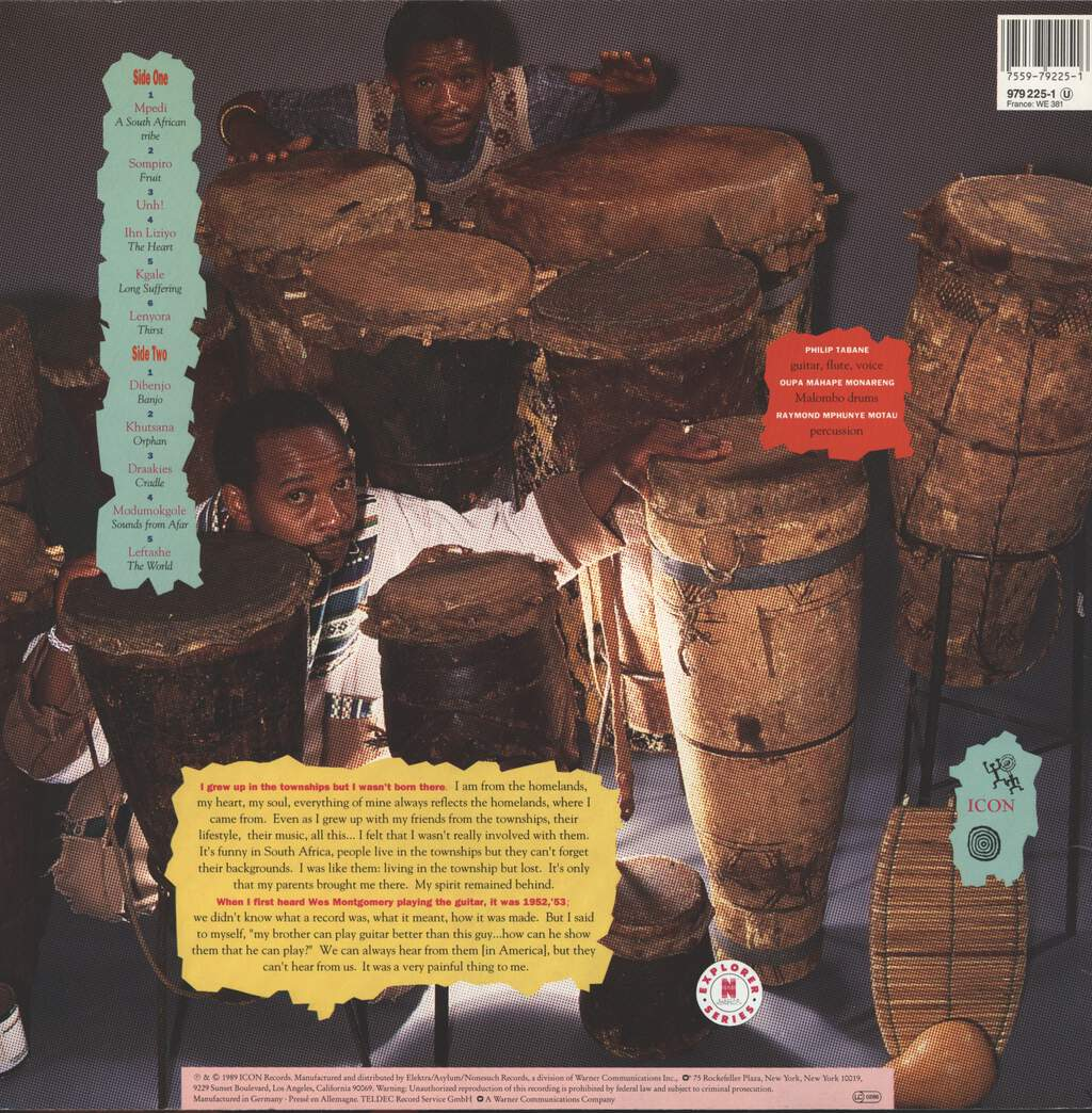 Tabane and Malombo, Philip: Unh!, LP (Vinyl)