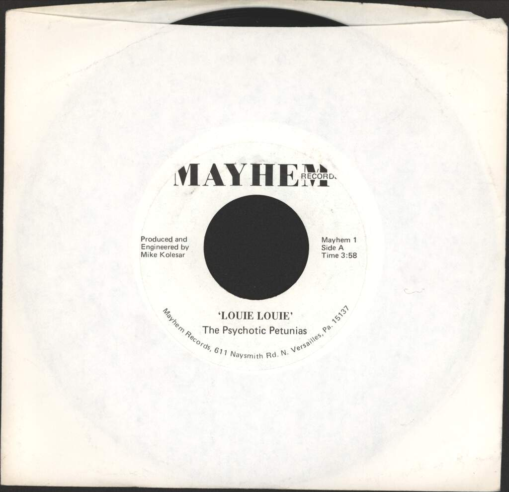 "Psychotic Petunias: Louie Louie, 7"" Single (Vinyl)"