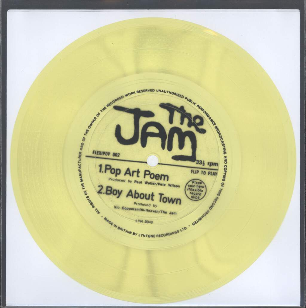 "Jam: Pop Art Poem /  Boy About Town, 7"" Single (Vinyl)"