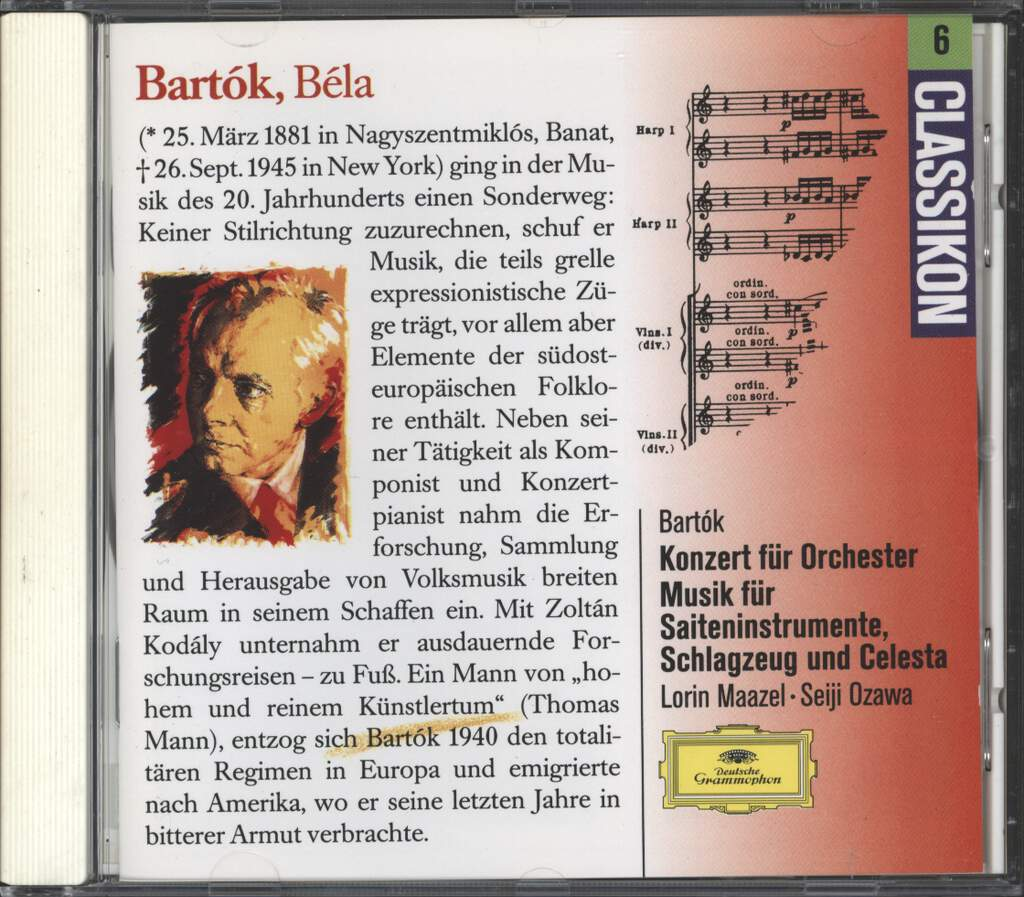 Béla Bartók: Music For Strings, Percussion And Celesta / Concerto For Orchestra, CD