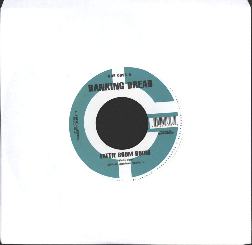 "Ranking Dread: Fattie Boom Boom, 7"" Single (Vinyl)"