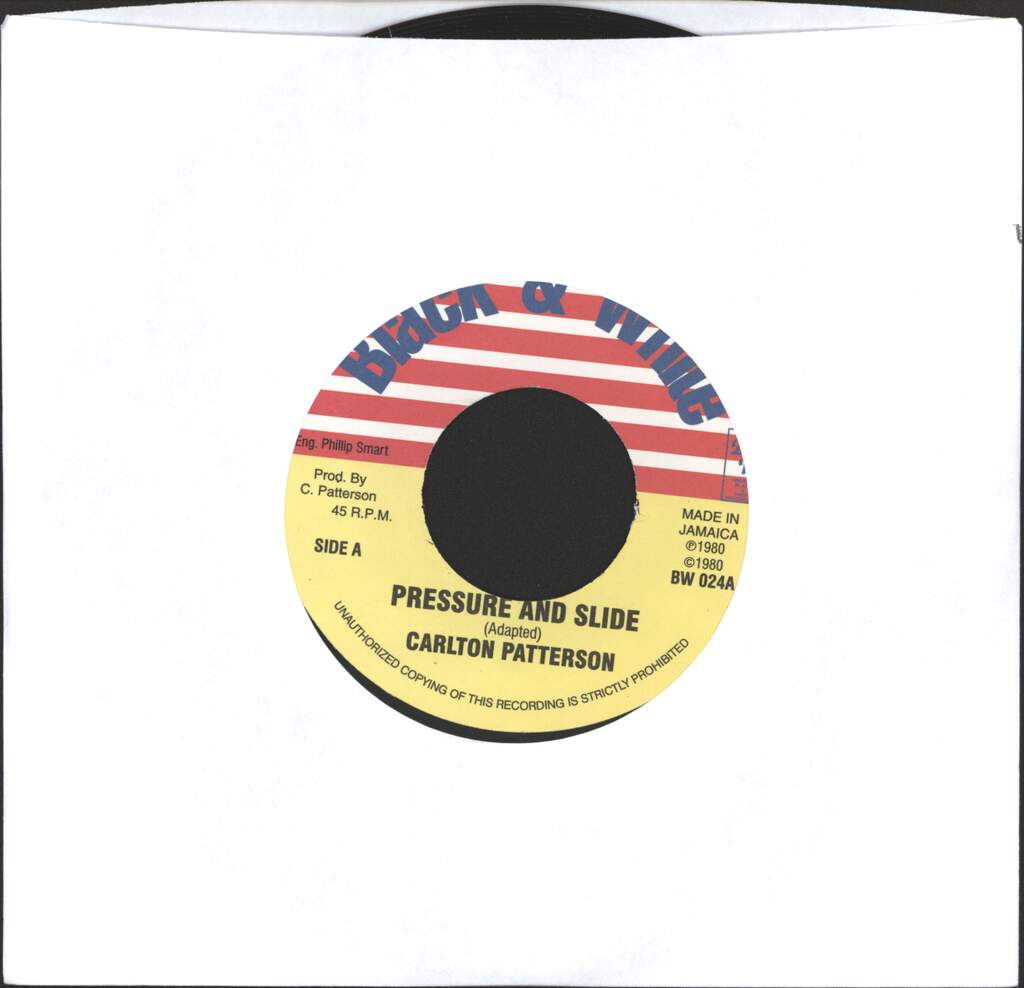 "Carlton Patterson: Pressure And Slide / Doctor Man Skank, 7"" Single (Vinyl)"
