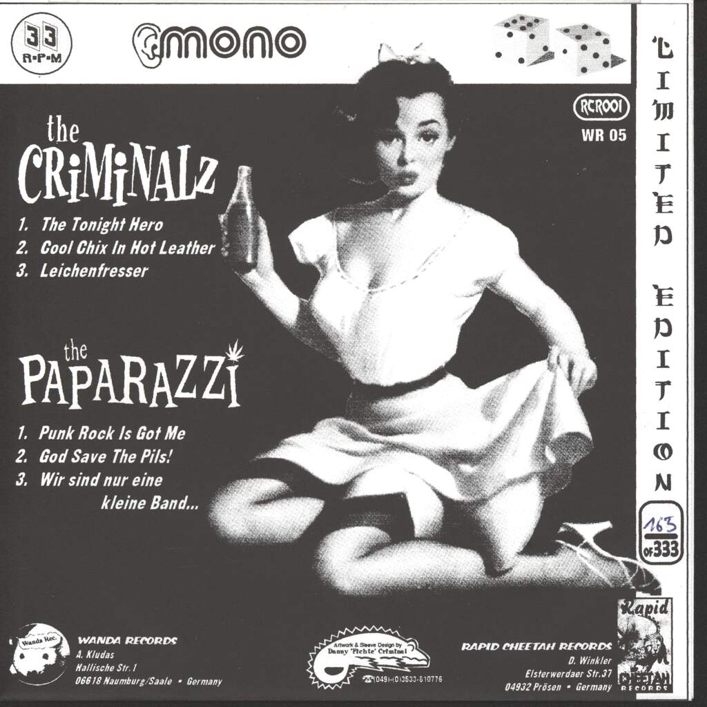 "Paparazzi: The Paparazzi / The Criminalz, 7"" Single (Vinyl)"
