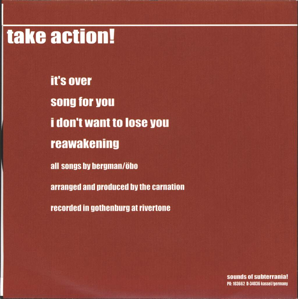 "Carnation: Take Action!, 7"" Single (Vinyl)"