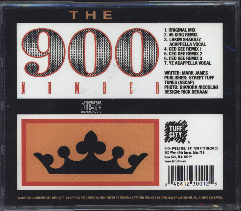 45 King: The 900 Number EP, Mini CD