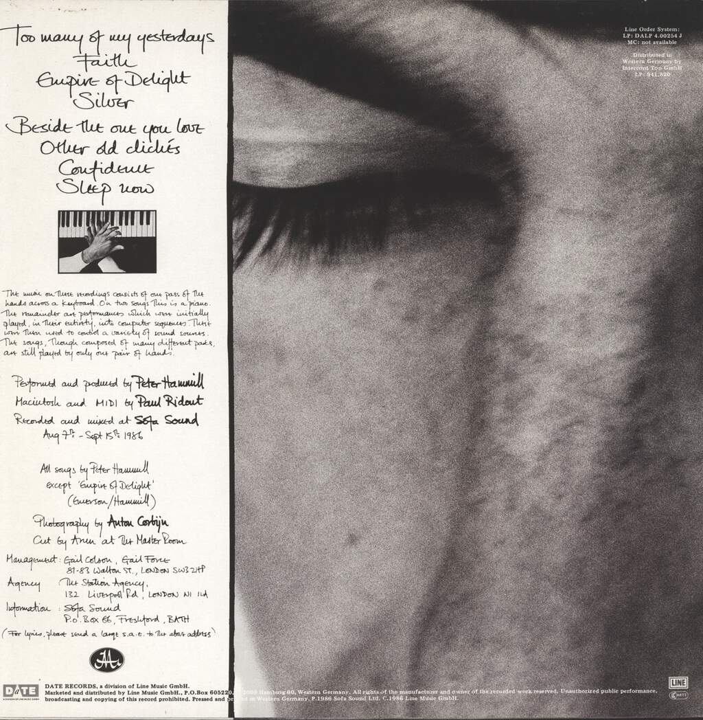 Peter Hammill: And Close As This