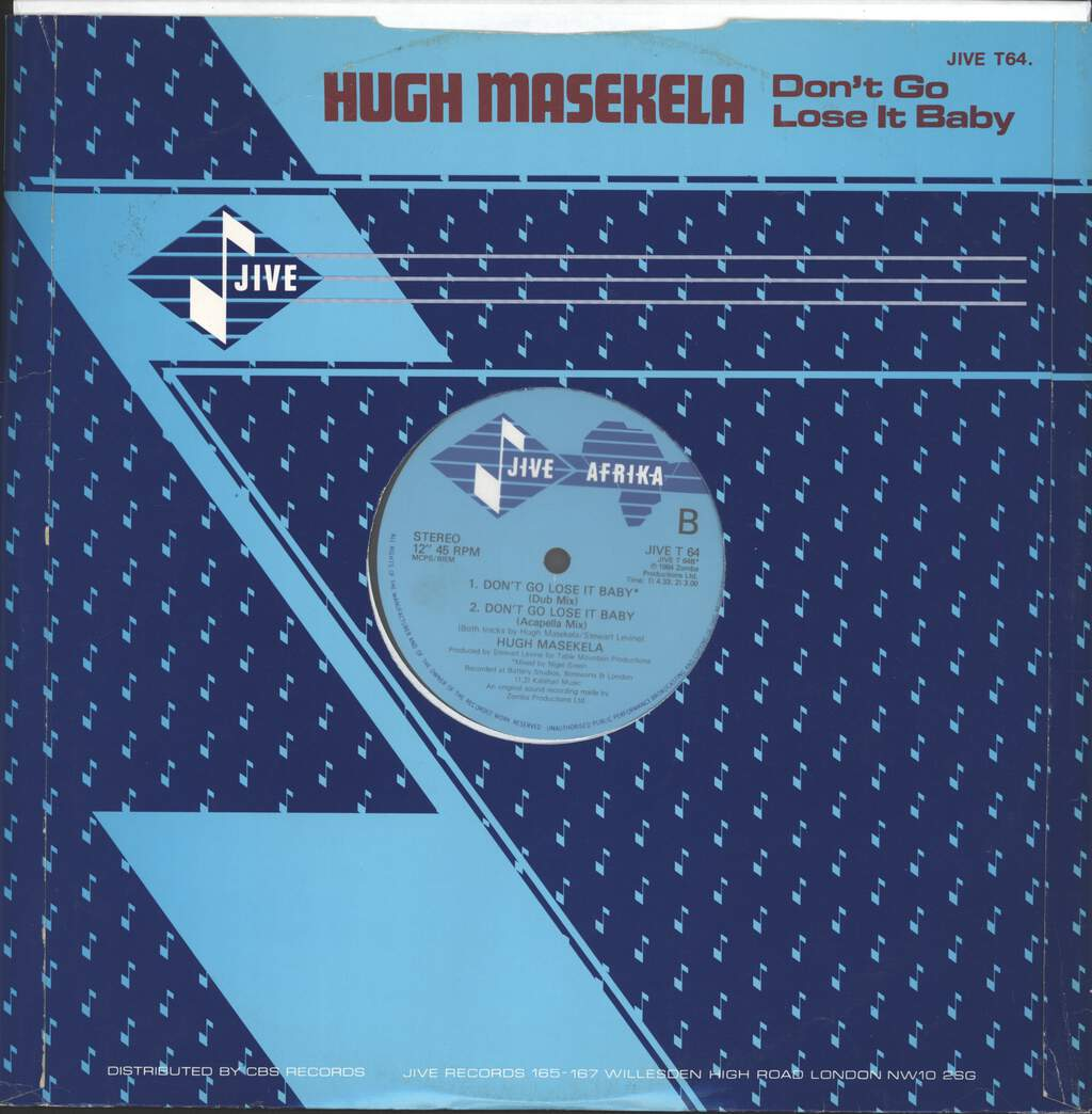 "Hugh Masekela: Don't Go Lose It Baby (Hot African Mix), 12"" Maxi Single (Vinyl)"