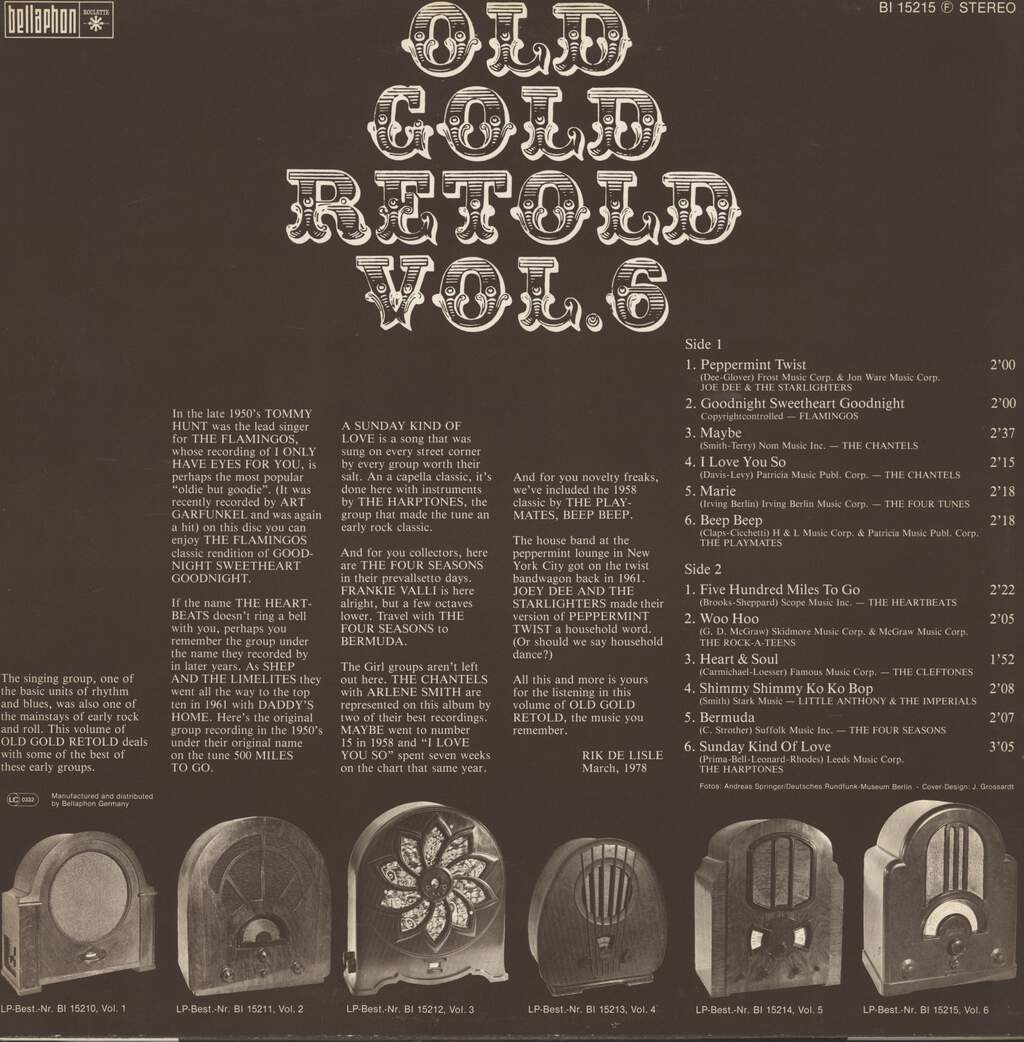 Various: Old Gold Retold Vol. 6, LP (Vinyl)