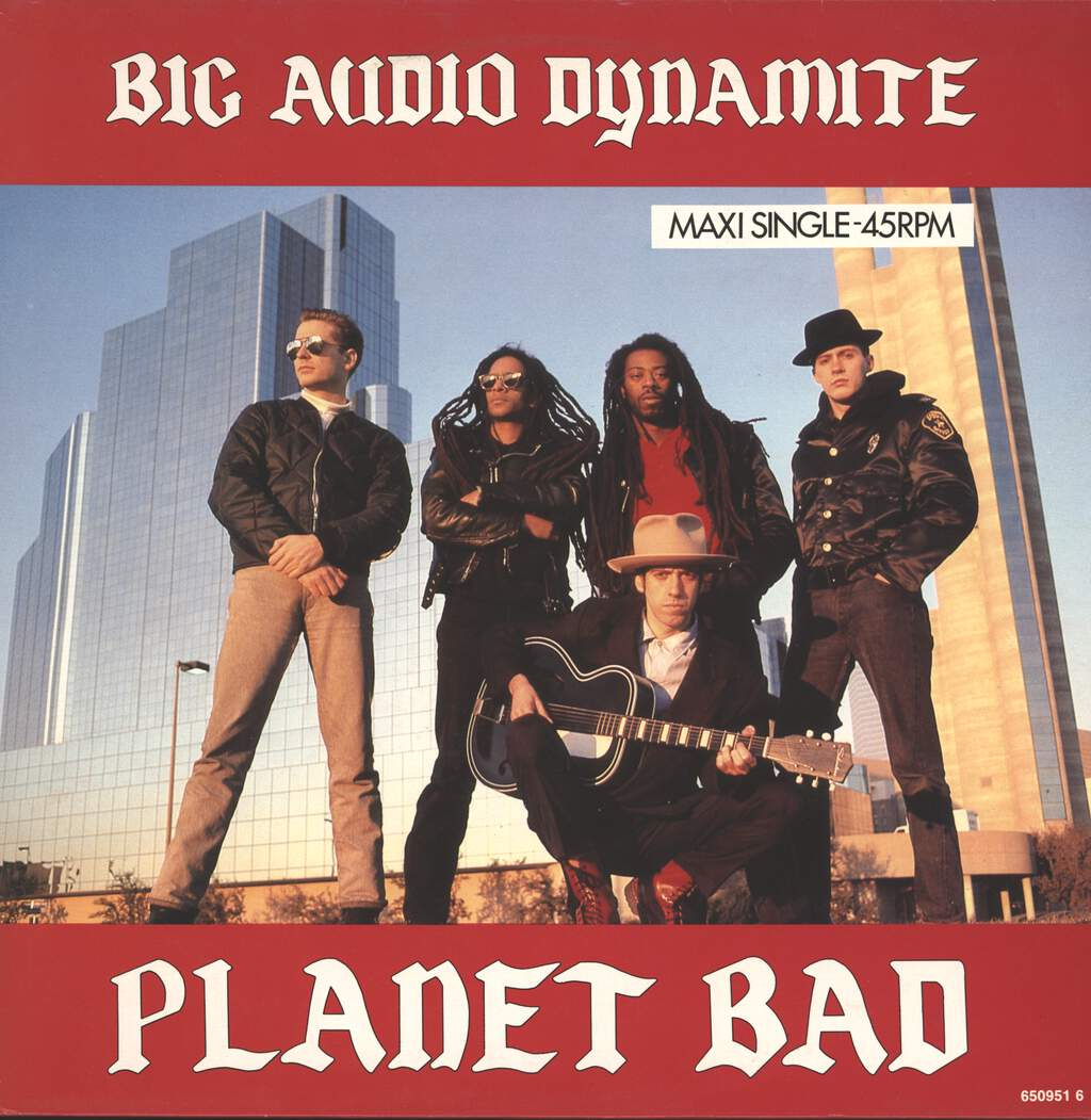 "Big Audio Dynamite: Planet Bad, 12"" Maxi Single (Vinyl)"