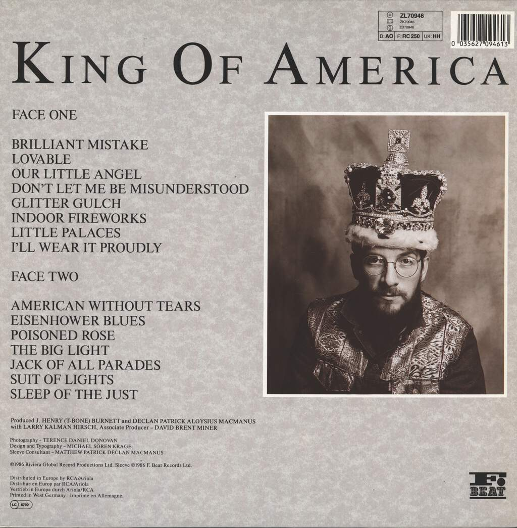 Costello Show: King Of America, LP (Vinyl)