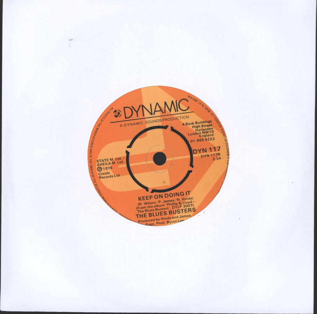 "Blues Busters: Sweetest Thing / Keep On Doing It, 7"" Single (Vinyl)"