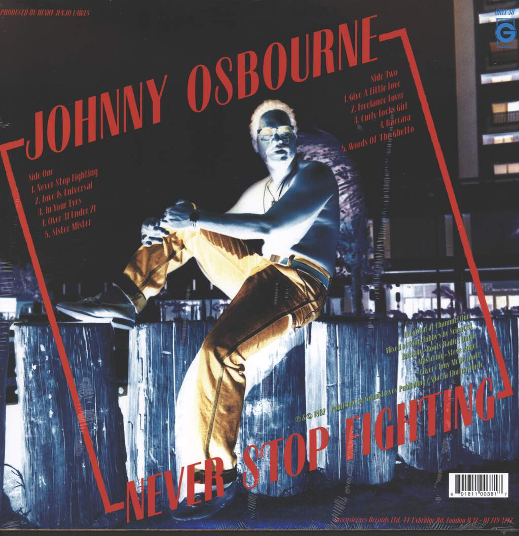 Johnny Osbourne: Never Stop Fighting, LP (Vinyl)
