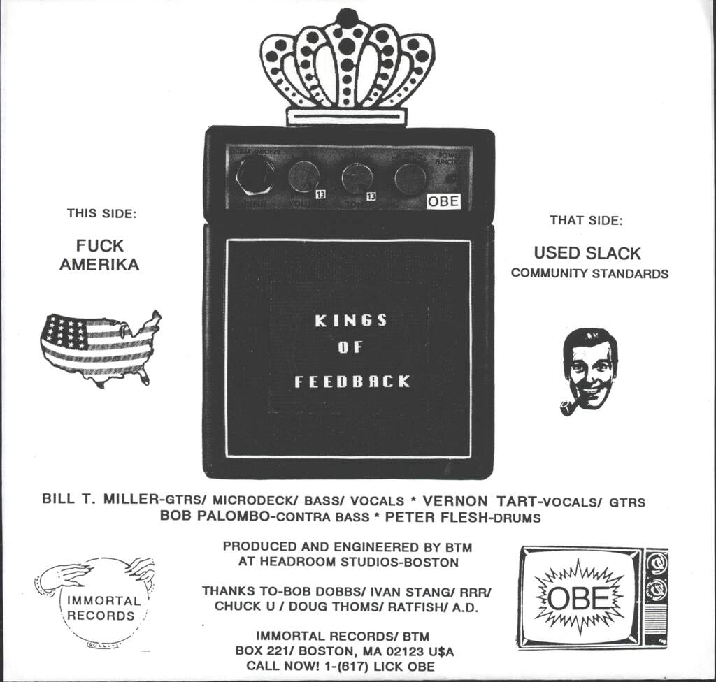 "Kings Of Feedback: Fuck Amerika, 7"" Single (Vinyl)"