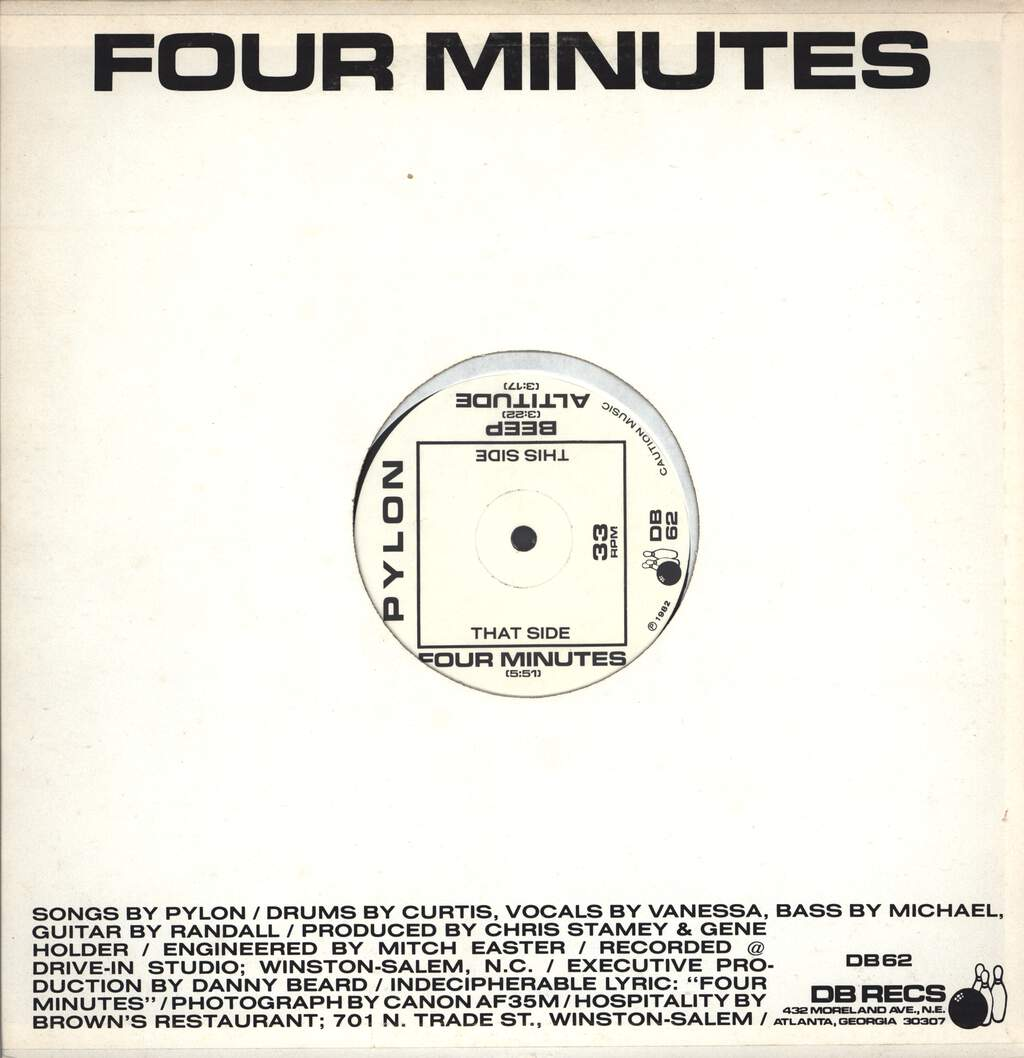 "Pylon: Beep / Altitude / Four Minutes, 12"" Maxi Single (Vinyl)"