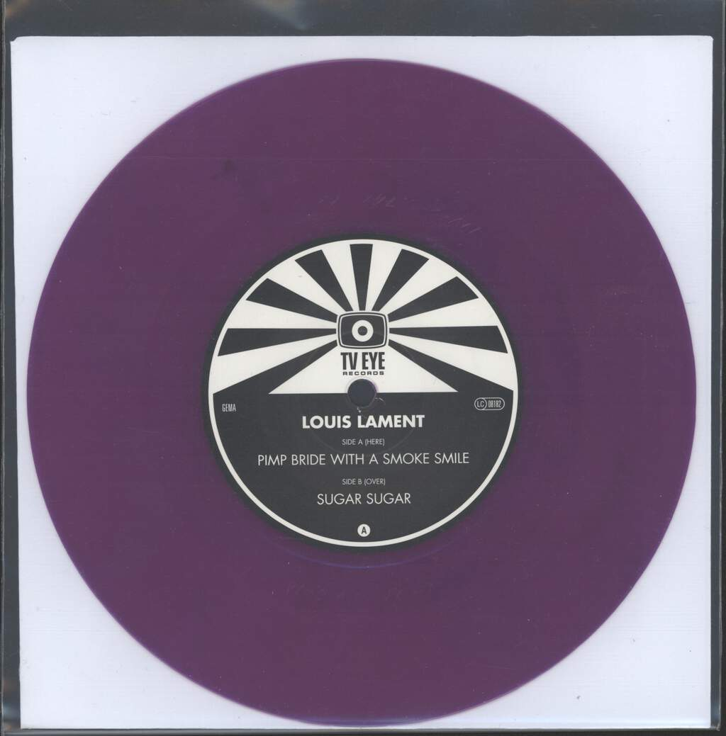 "Louis Lament: Pimp Bride With A Smoke Smile / Sugar Sugar, 7"" Single (Vinyl)"