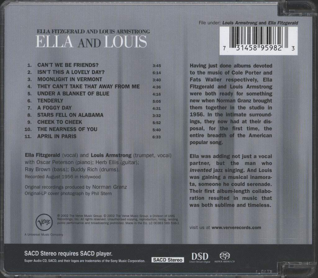 Ella Fitzgerald: Ella And Louis, CD