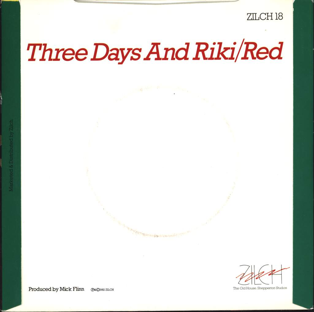 "Jealous Girl: Three Days And Riki, 7"" Single (Vinyl)"