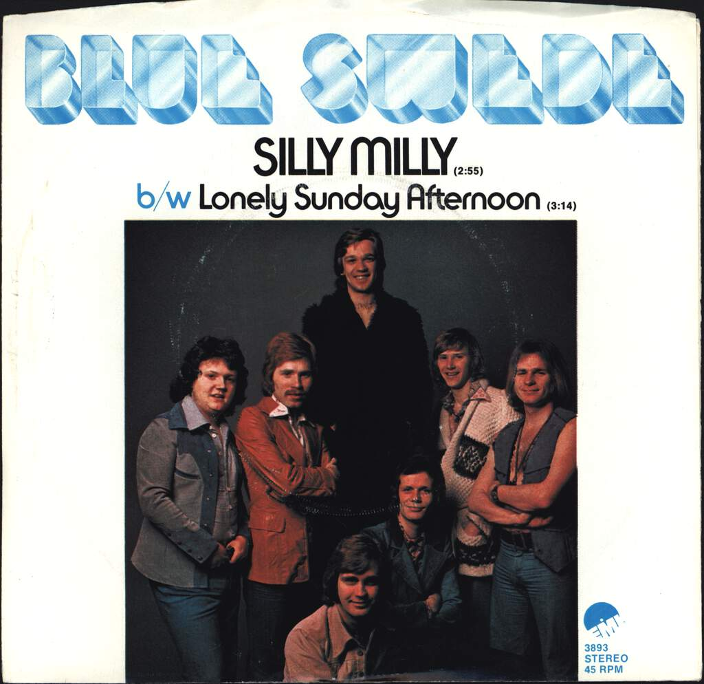 "Blue Swede: Silly Milly / Lonely Sunday Afternoon, 7"" Single (Vinyl)"