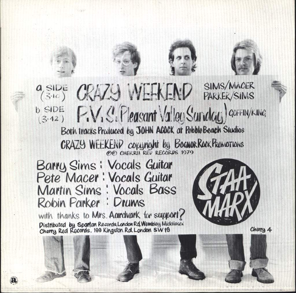 "Staa Marx: Crazy Weekend, 7"" Single (Vinyl)"